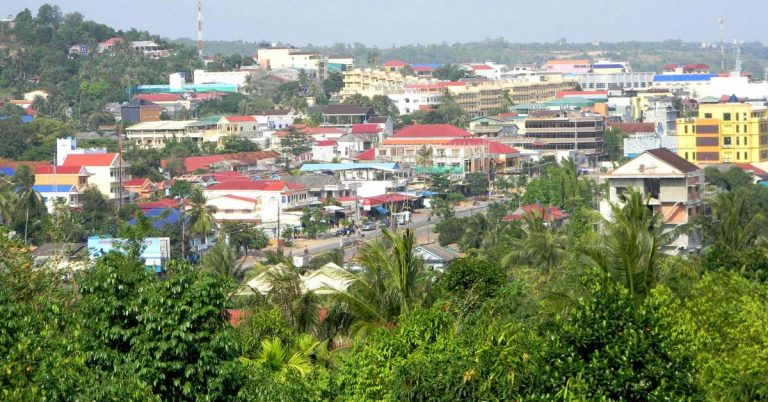Blick über die Küstenstadt Sihanoukville.