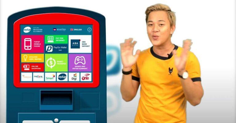 PayGo Kiosk zum Aufladen der virtuellen Mastercard.