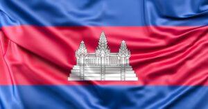 Nationalflagge des Königreichs Kambodscha.