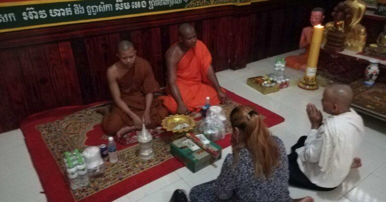 Buddhistische Bestattung von Gunnar im Tempel Wat Krom.