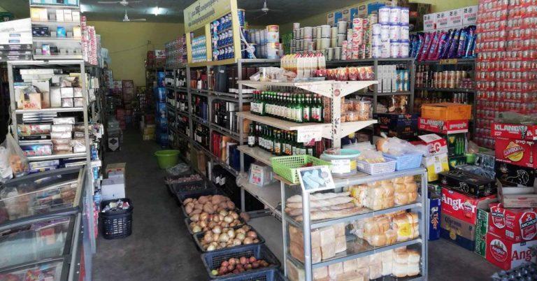 In einem Einkaufsladen in Kep, Kambodscha.