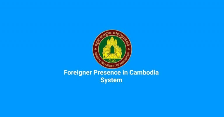 Foreigners Present in Cambodia System