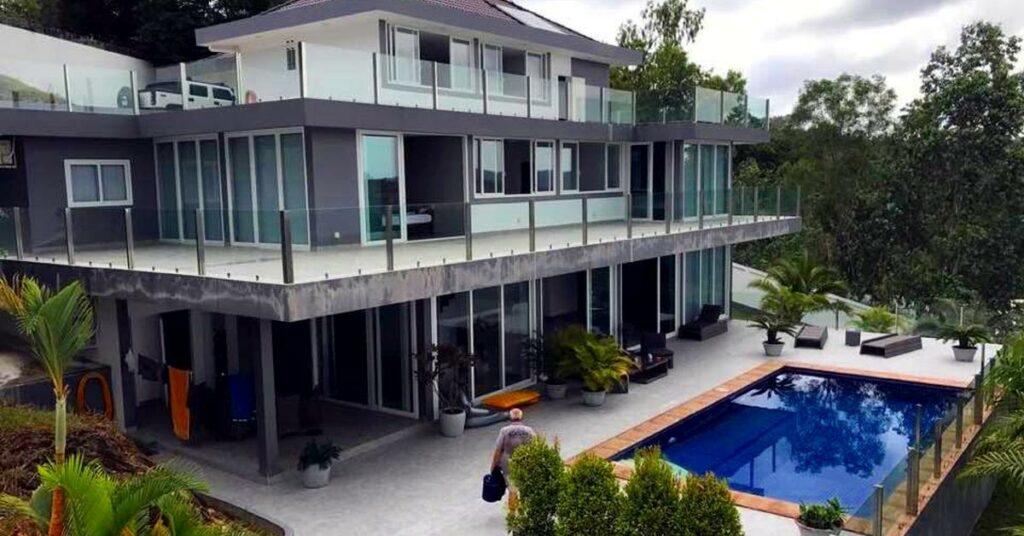 Luxuriöse Villa mit Swimmingpool in Sihanoukville.