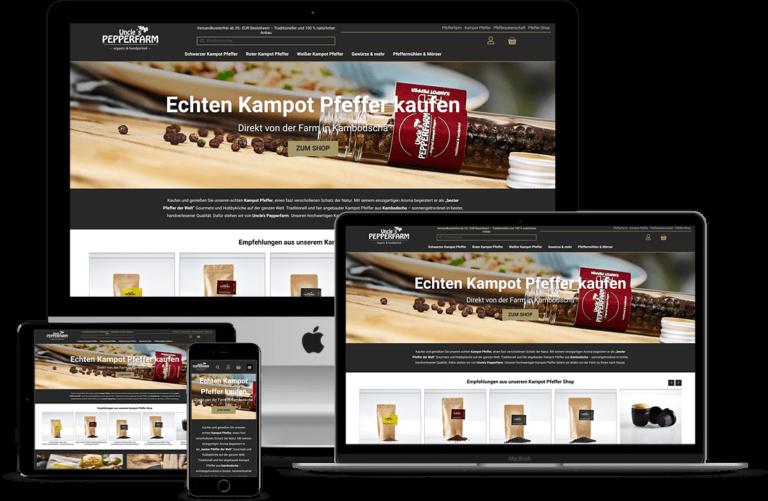 Webdesign für Onlineshops