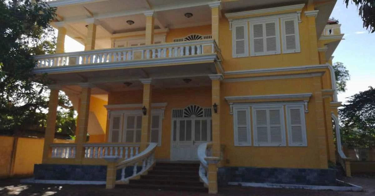Alte französische Kolonial-Villa in sehr gepflegtem Zustand.