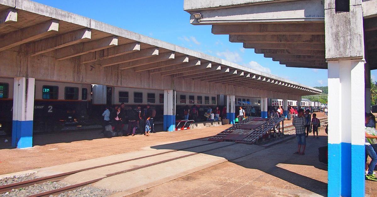 Der Bahnhof in Sihanoukville
