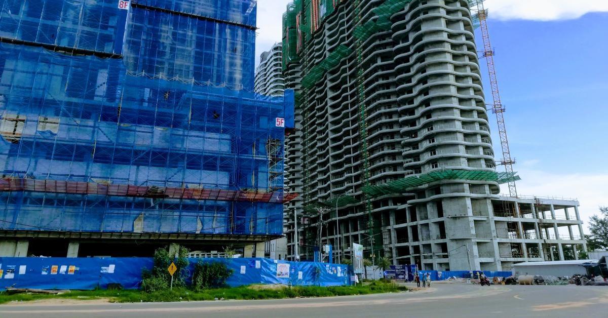 Großbaustellen chinesischer Investoren in Sihanoukville.