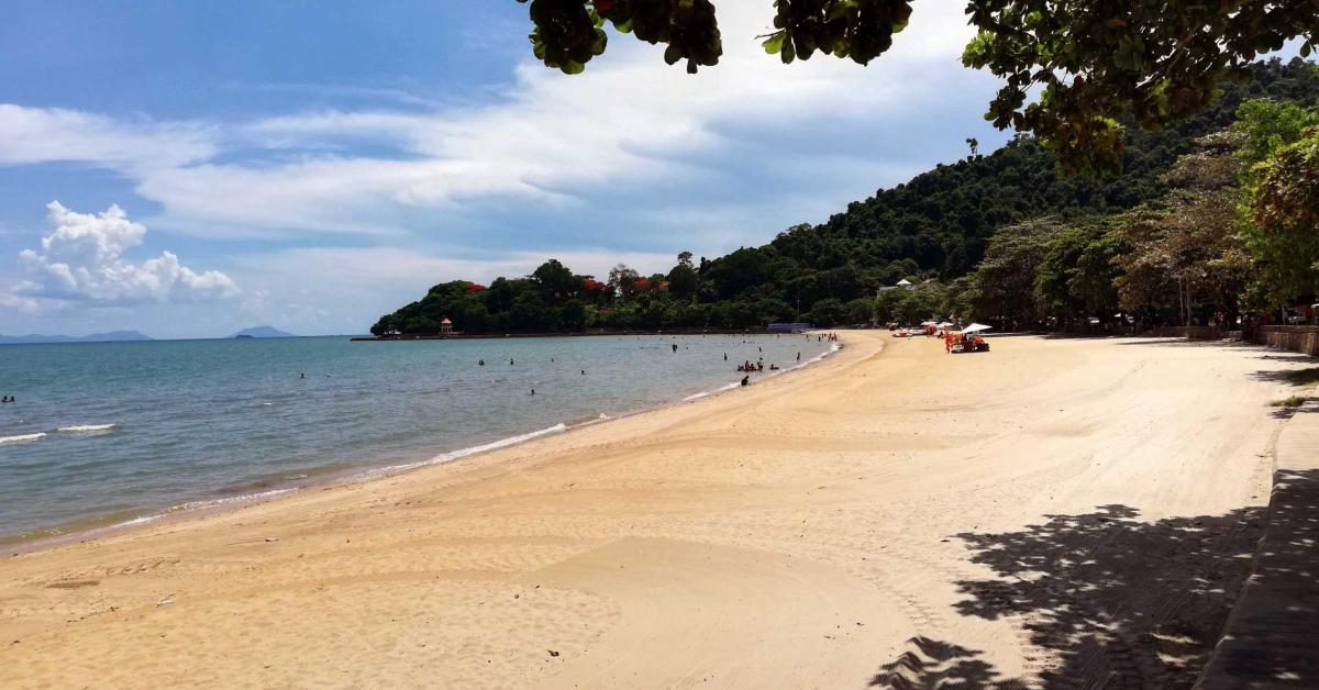 Der Strand im Küstenort Kep, Kambodscha.