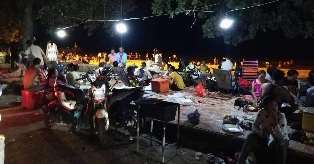 Khmer-Neujahrsfest 2020, am Kep Beach.