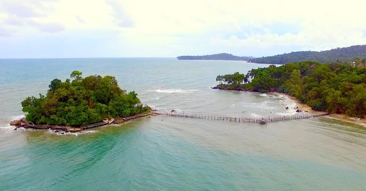 Ausflug nach Prince Island in Kambodscha.