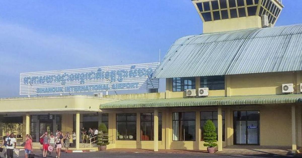 Der internationale Flughafen von Sihanoukville.
