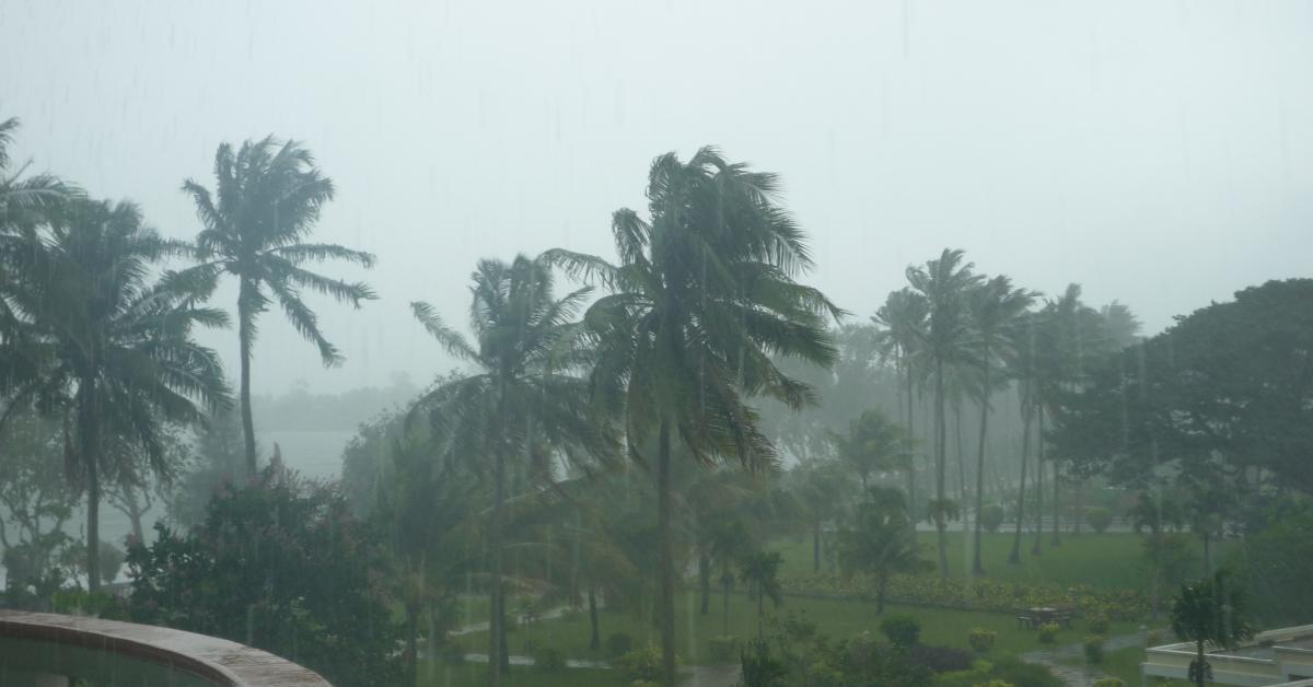 Schwere Regenfälle in Sihanoukville, mitten in der Trockenzeit.